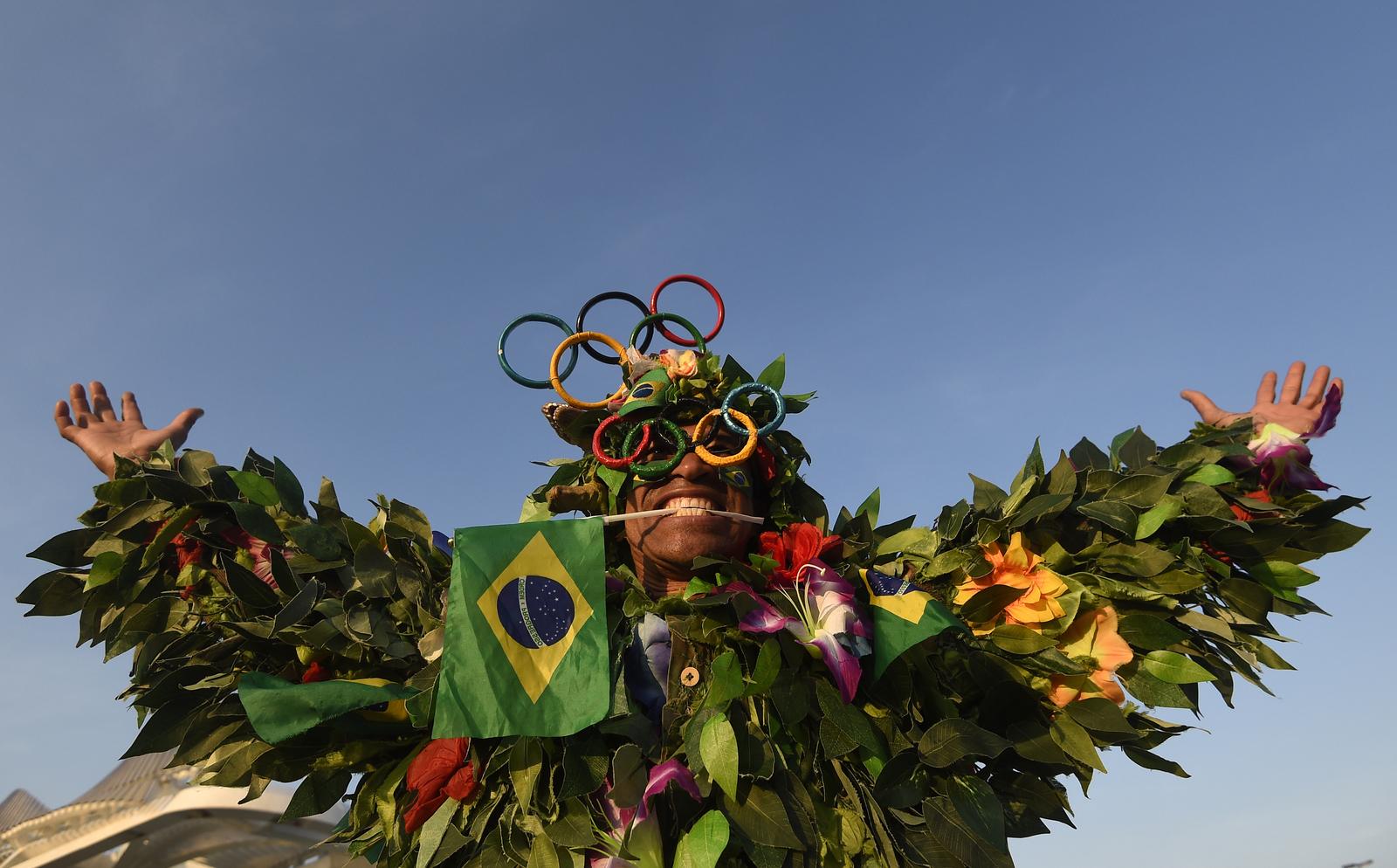 Бразильские болельщики склонны к необычным нарядам