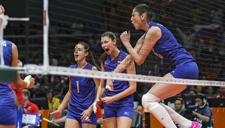 Русские волейболистки одержали победу над сборной Южной Кореи вРио