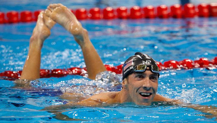 Американский пловец стал 21-кратным олимпийским чемпионом