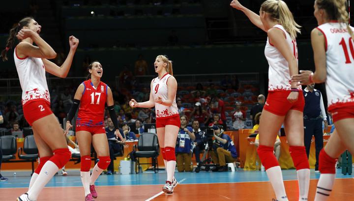 Русские волейболистки сыграют против команды Сербии в ¼ финалаОИ