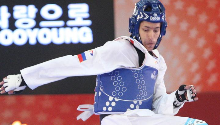 Русский  тхэквондист Алексей Денисенко вышел вфинал турнира Олимпиады