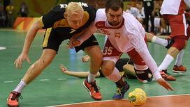 Гандбольный матч за бронзу олимпийских игр между Польшей и Германией