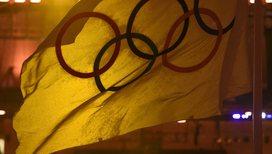 Олимпийский флаг на церемонии закрытия Игр в Рио
