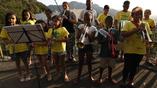 на улицах Рио можно встретить оркестры, которые развлекают гостей Олимпиады