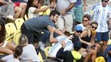 Теннисный матч между аргентинцем и португальцем ознаменовался потасовкой болельщиков