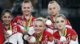 Российские гимнастки неплохо начали соревнования, заняв второе место в многоборье