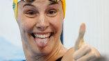 Австралийская пловчиха Бронте Кэмпбелл после полуфинального заплыва на 50 метров фристайлом