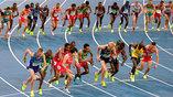 Старт на дистанции 10 000 метров у мужчин