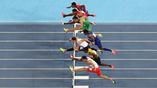 Полуфинальный забег на 110 метров у барьеристов