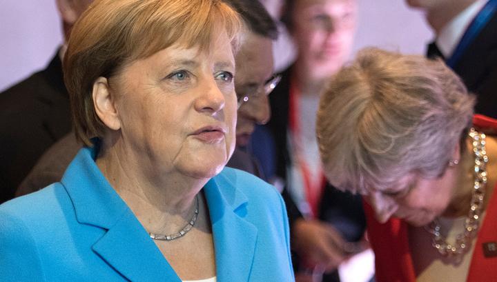 Меркель проигнорировала приветствие Мэй