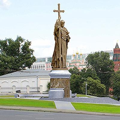 Монтаж памятника князю Владимиру в Москве начнется 15 октября