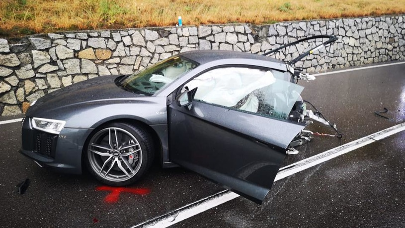 ДТП с мажорами: суперкар за 11 млн рублей разорвало напополам