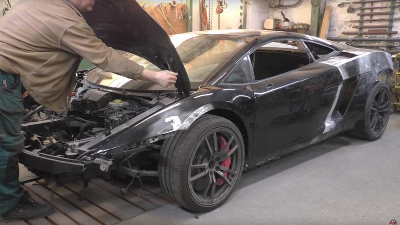 Русский мастер в США сделал Lamborghini из автохлама! (видео)