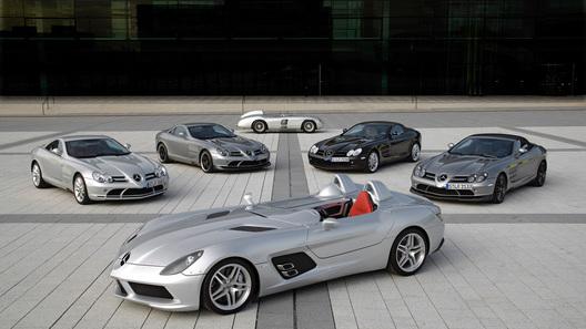 Mercedes-Benz SLR McLaren покидает сцену