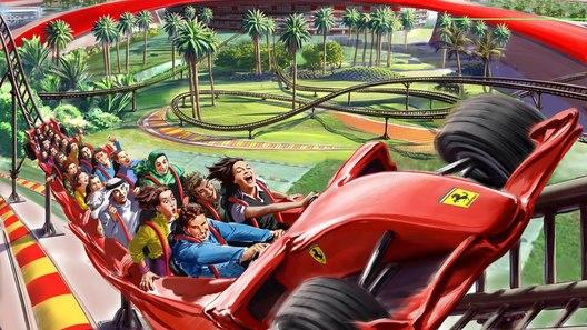 Парк аттракционов Ferrari World Abu Dhabi раскрывает секреты