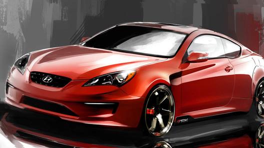 ARK Performance готовит к автошоу SEMA свою версию Hyundai Genesis Coupe