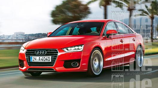 Опубликованы первые изображения Audi A4 2015 года