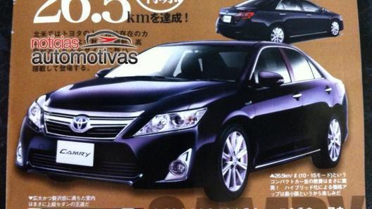В Сеть попали очередные фото новой Toyota Camry