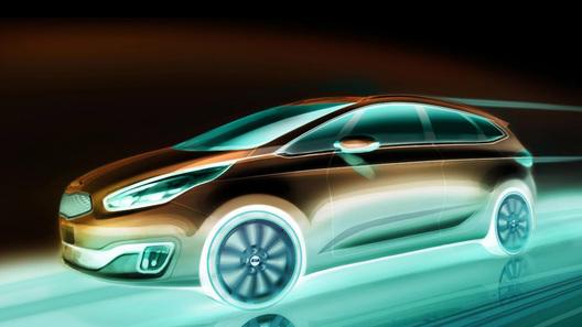 Kia покажет новый компактвэн Carens на автосалоне в Париже