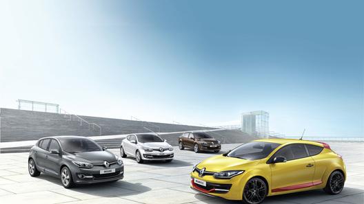 Рестайлинговый Renault Megane прибыл во Франкфурт всем семейством