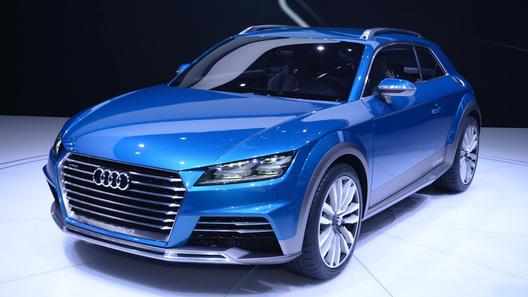 Audi показал живьем внедорожное купе Allroad Shooting Brake