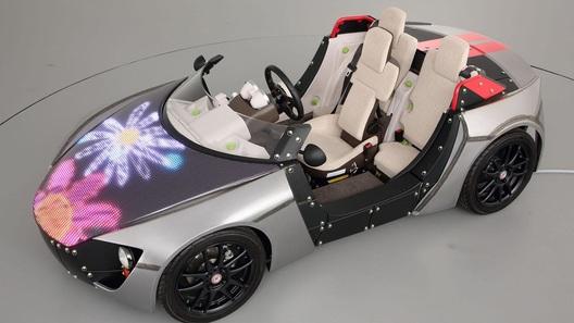 Новый концепт-кар Toyota можно будет раскрасить самому с помощью светодиодов