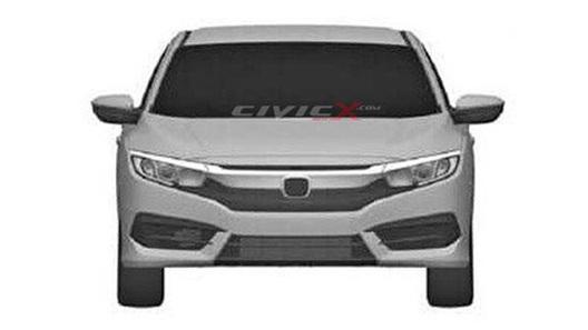 Новый Honda Civic засветился на патентных изображениях
