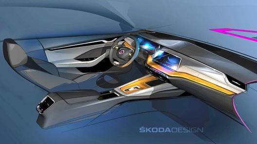 Официально рассекречен интерьер новой Skoda Octavia. И он явно не бюджетный
