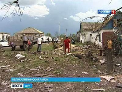 В Ростовской области устраняют последствия субботнего урагана