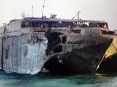 Гордость ВМФ США полностью выгорела от попадания китайской ракеты в Йемене