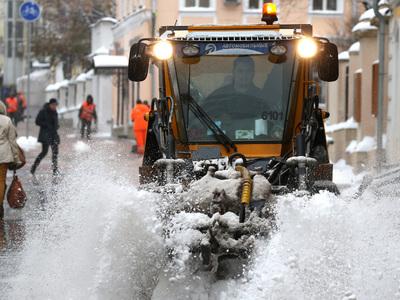 В Москве снова хозяйничает зима