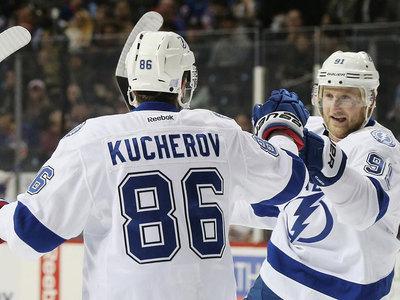 Кучеров и Василевский стали лучшими игроками дня в НХЛ