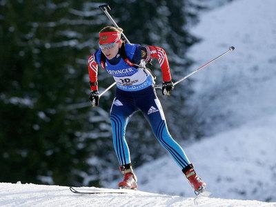 Биатлонистка Глазырина забежала в пятерку сильнейших Кубка мира