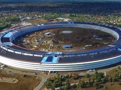 """""""Космический корабль"""" Apple почти достроен: видео с воздуха"""