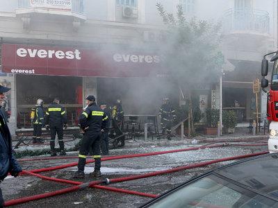 В афинском фастфуде прогремел взрыв