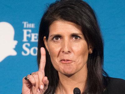Хейли не исключает новых санкций в отношении России