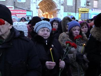 В Донецке вспомнили жертв обстрела автобусной остановки