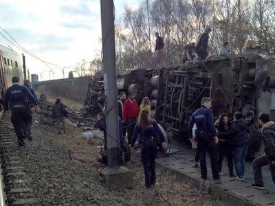 Крушение поезда в Бельгии: не обошлось без жертв