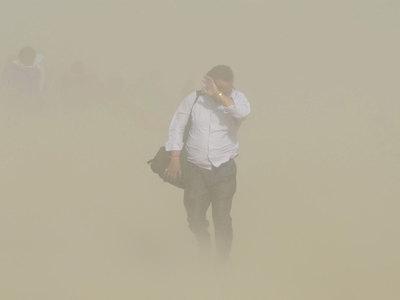 На Южную Корею обрушилась сильнейшая пыльная буря