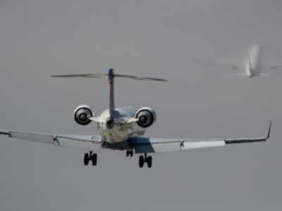 В России сел еще один самолет со сломанным двигателем