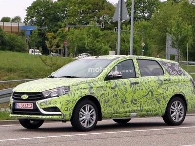 Новый универсал Lada Vesta испытывают в Германии