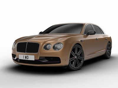 """Bentley отделала титаном салон """"дизайнерской"""" версии Flying Spur"""