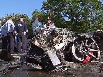 Огненное ДТП на Волоколамке: водитель Mercedes объявлен в розыск