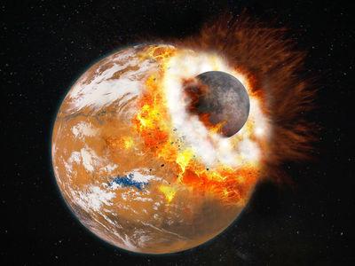 Удары астероидов породили движение материков