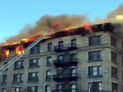 Пожар в жилом доме в Нью-Йорке: девять человек пострадали