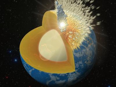 Геологи: в ядро Земли могло влиться вещество неродившихся планет