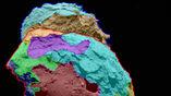 На схеме обозначены области поверхности различной морфологии