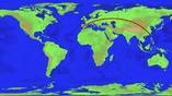 Самый длинный путь по земле по прямой линии.