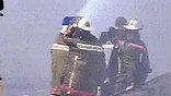 Благодаря умелым действиям пожарных, через полтора часа огонь удалось локализовать