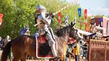 Парк Коломенское. Рыцарский турнир святого Георгия, проводимый по канонам XV века.